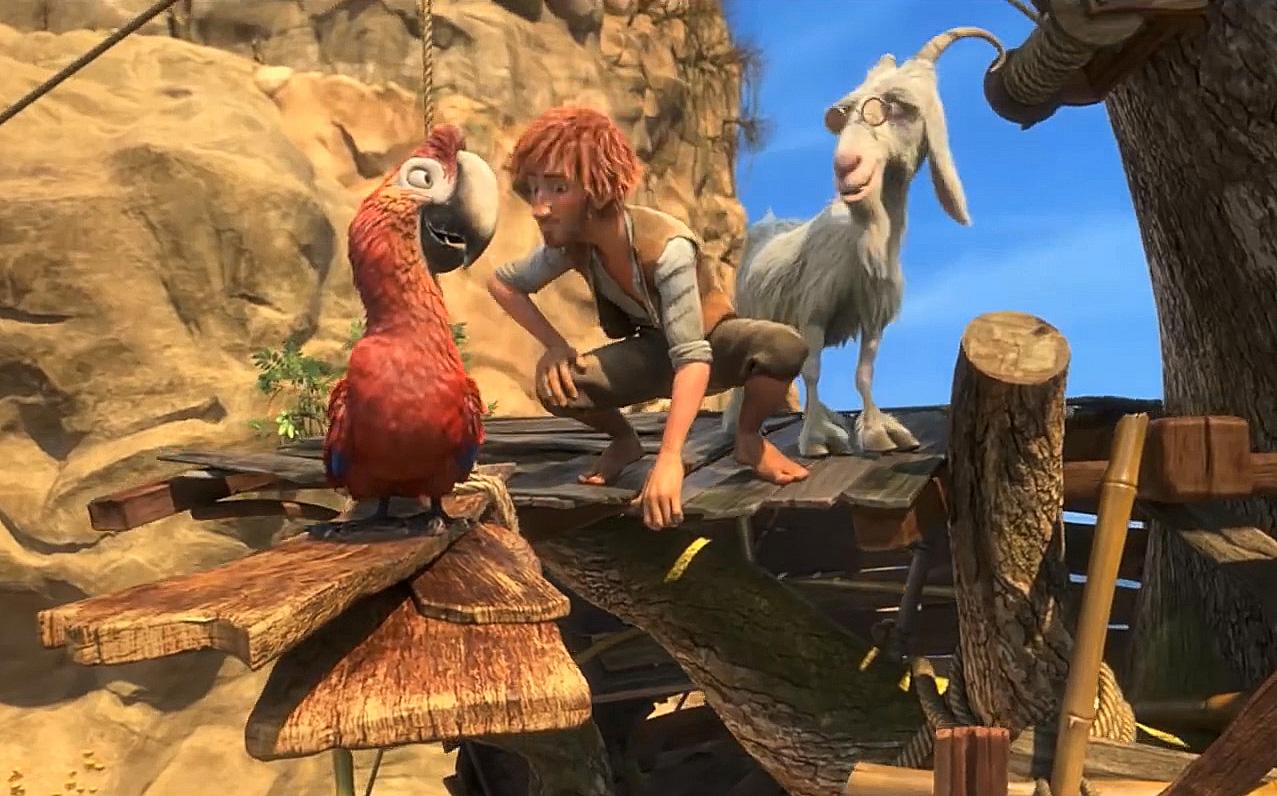 Robinson Crusoe: una scena del film d'animazione