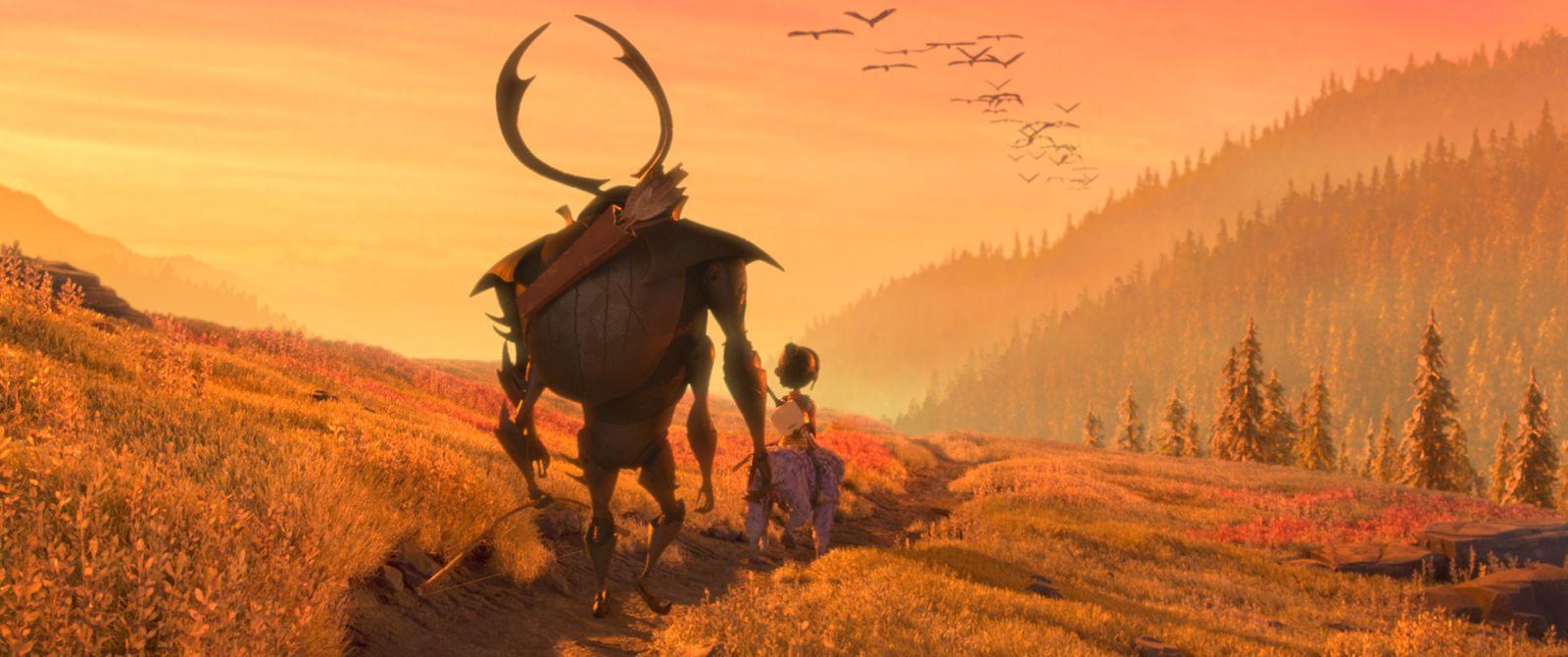 Kubo e la spada magica: una scena del film animato