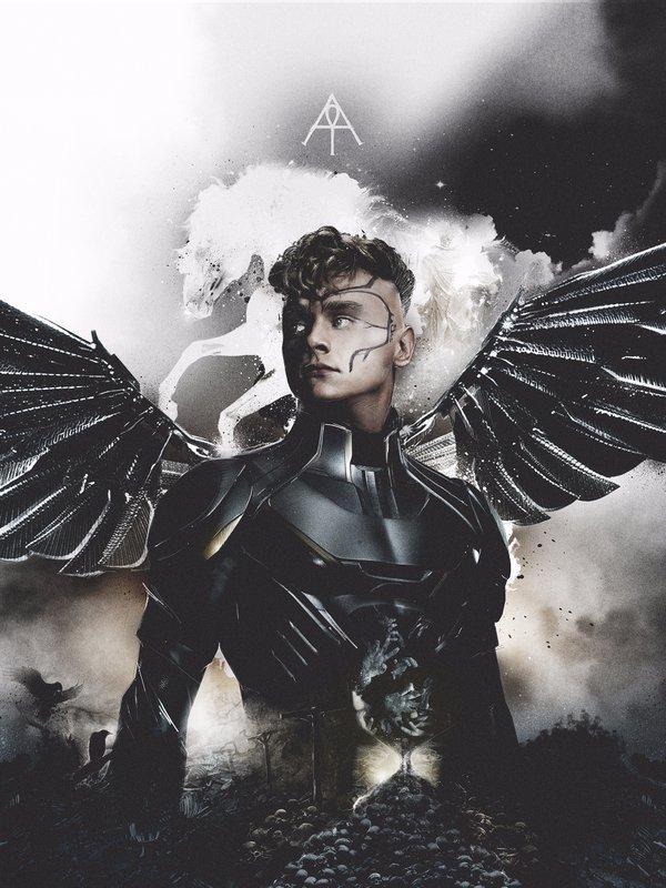 X-Men: Apocalisse - Il character poster di Angel, interpretato da Ben Hardy