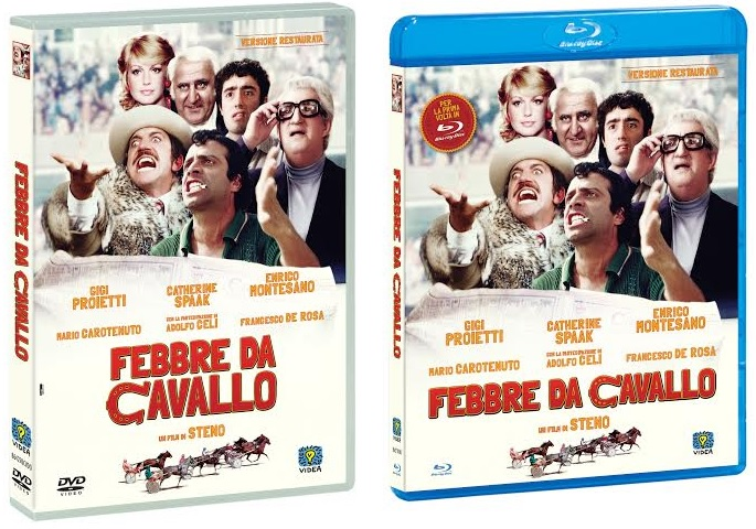 le cover homevideo di Febbre da cavallo