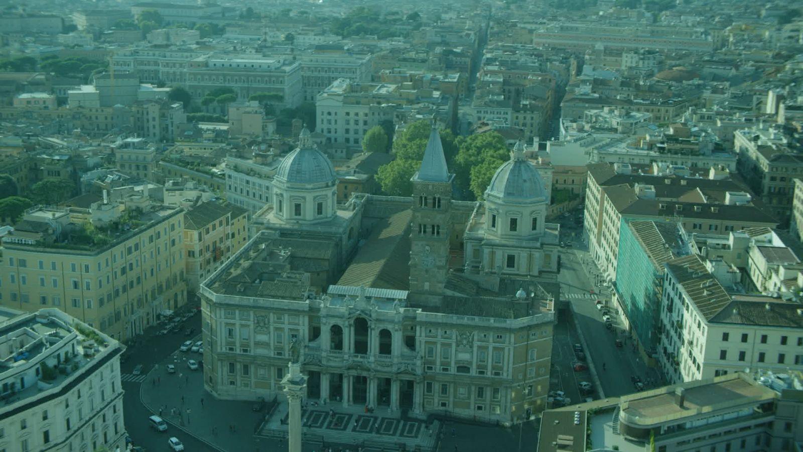 San Pietro e le Basiliche Papali di Roma 3D: un'immagine dall'alto della Basilica di Santa Maria Maggiore