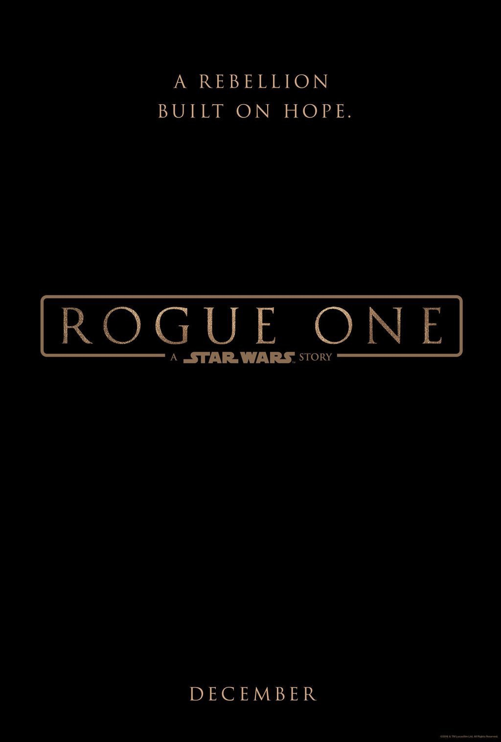 Rogue One: A Star Wars Story - Il teaser poster del film