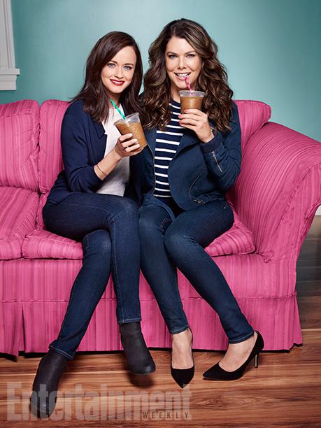 Una mamma per amica: Alexis Bledel e Lauren Graham con gli smoothies