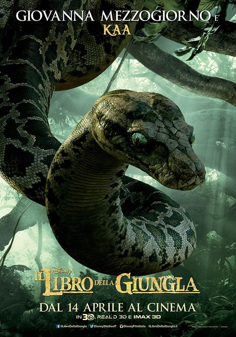 Il libro della giungla: il character poster dedicato alla doppiatrice italiana Giovanna Mezzogiorno
