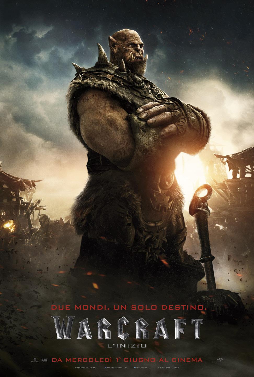 Warcraft - L'inizio: il character poster italiano di Orgrim Martelfato