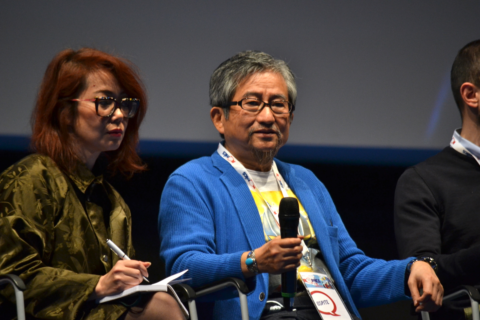 Romics 2016: Go Nagai durante l'incontro a lui dedicato