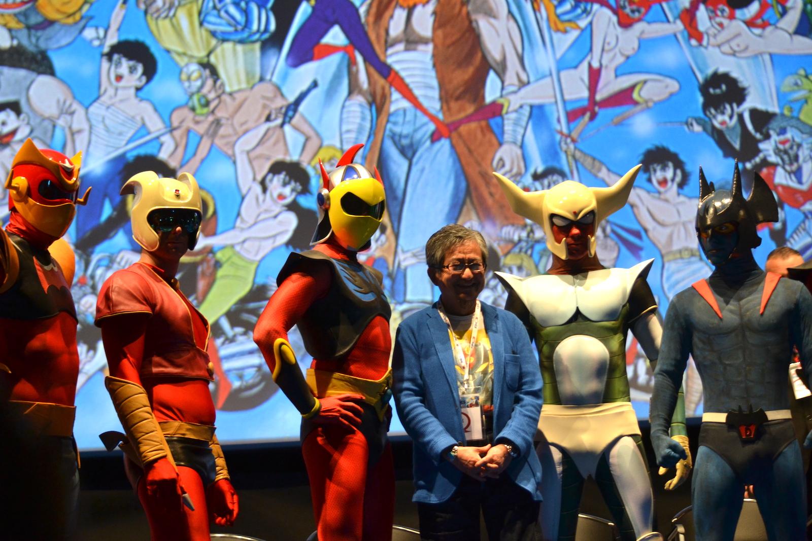 Romics 2016: Go Nagai insieme ai cosplayer dei personaggi da lui ideati