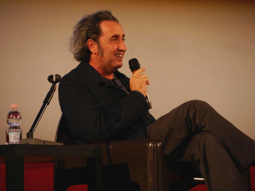 Paolo Sorrentino durante la masterclass del Lucca Film Festival