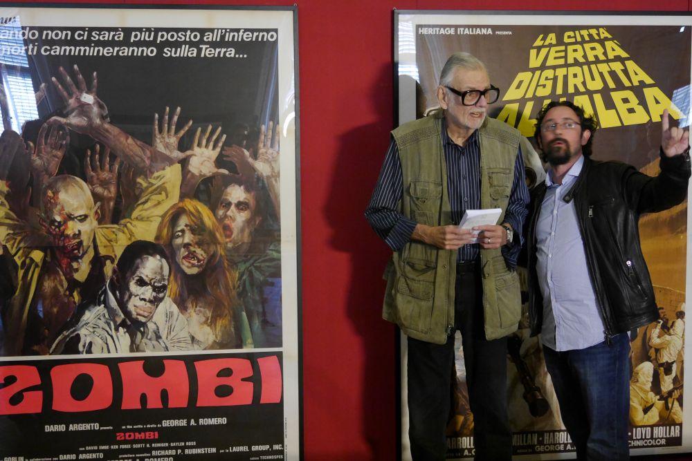 Lucca Film Festival: George Romero in visita alla mostra su di lui