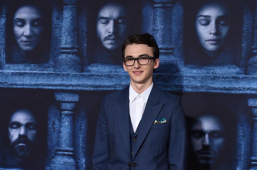 Il trono di spade: Isaac Hempstead Wright alla première della sesta stagione