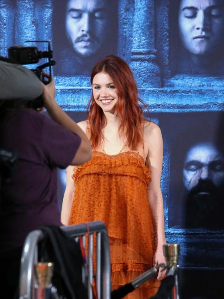 Il trono di spade: l'attrice Hannay Murray alla première della sesta stagione