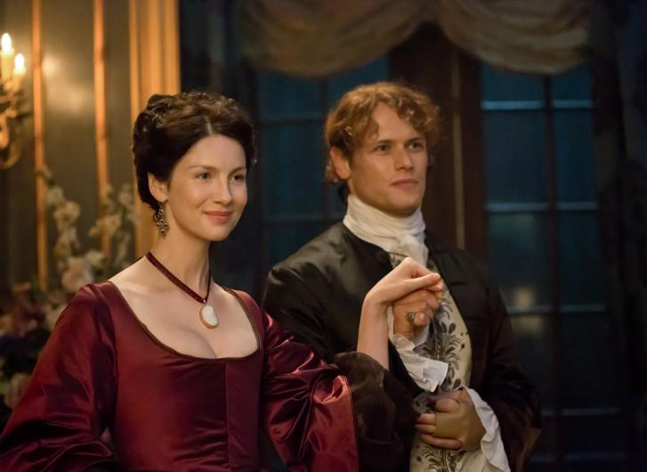 Outlander: Jamie e Claire in una foto della seconda stagione