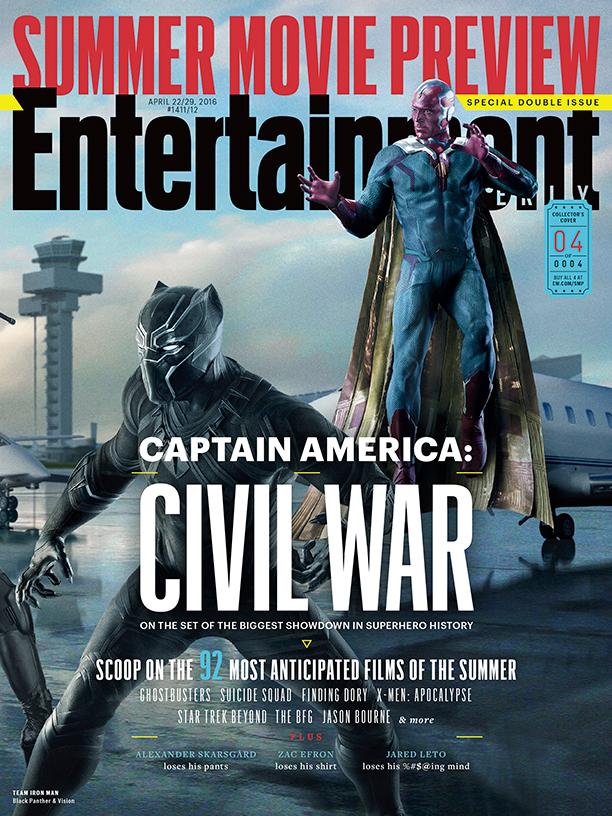 Captain America: Civil War - Una delle copertine di EW