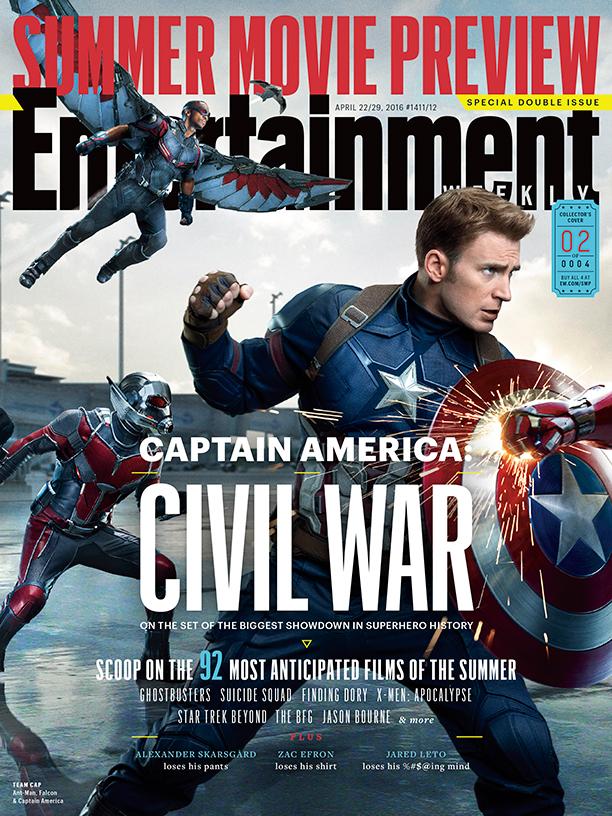 Captain America: Civil War - La copertina di EW dedicata a Captain America