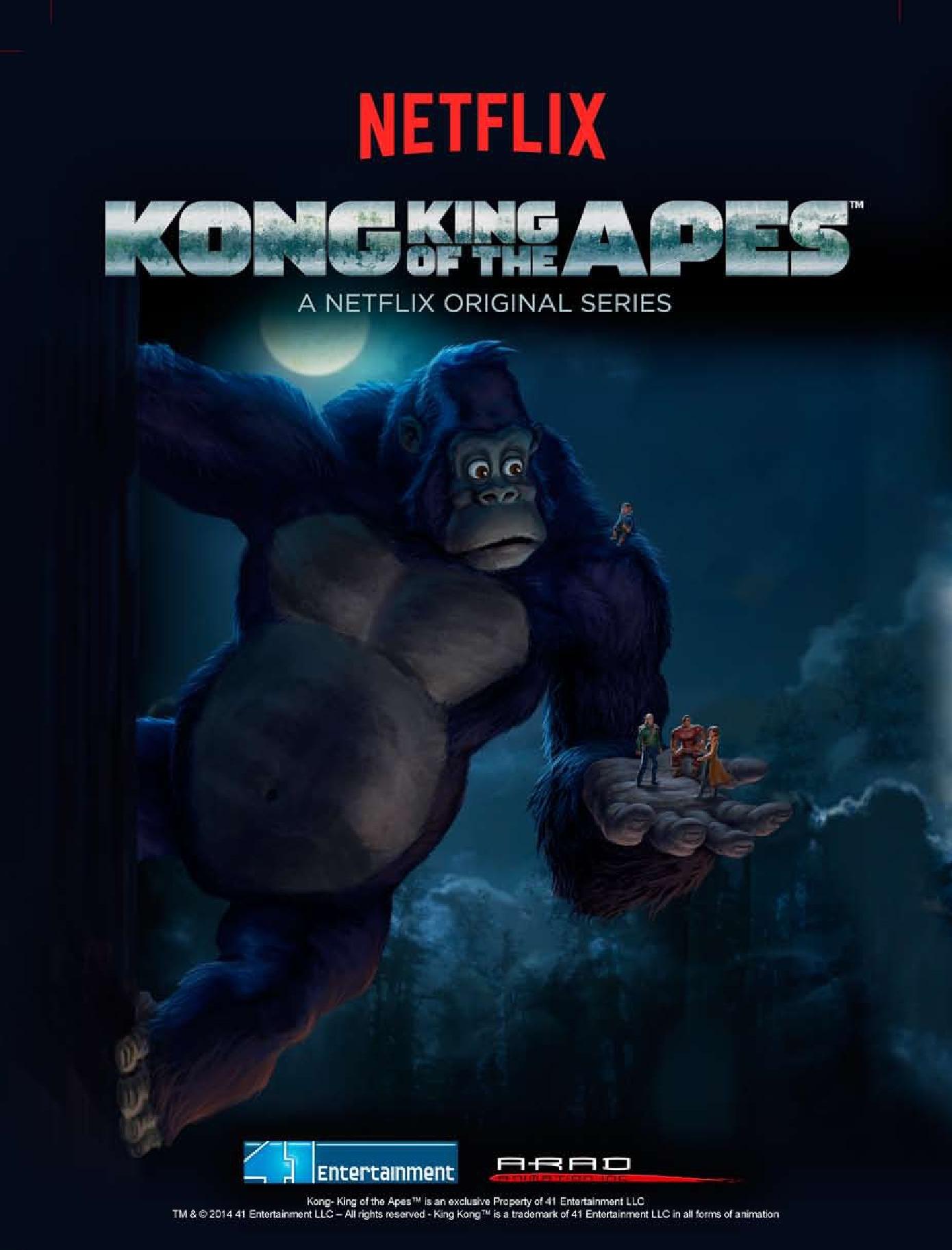 Kong - il re delle scimmie: la locandina della serie Netflix