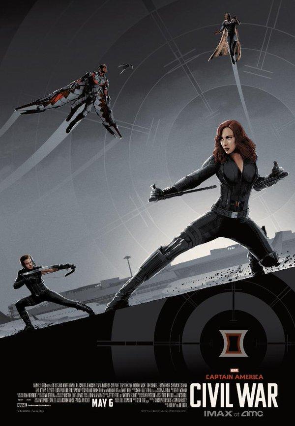 Captain America: Civil War - Un poster per la versione IMAX del film