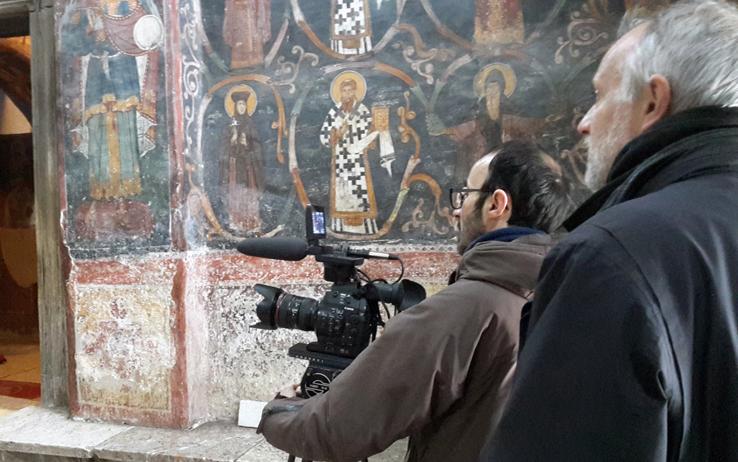 Nella terra dei merli: Kosovo tra passato e futuro - Il regista durante le riprese