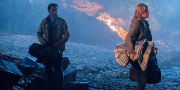 Fear the Walking Dead: Cliff Curtis e Kim Dickense in un'immagine della première, intitolata Monster