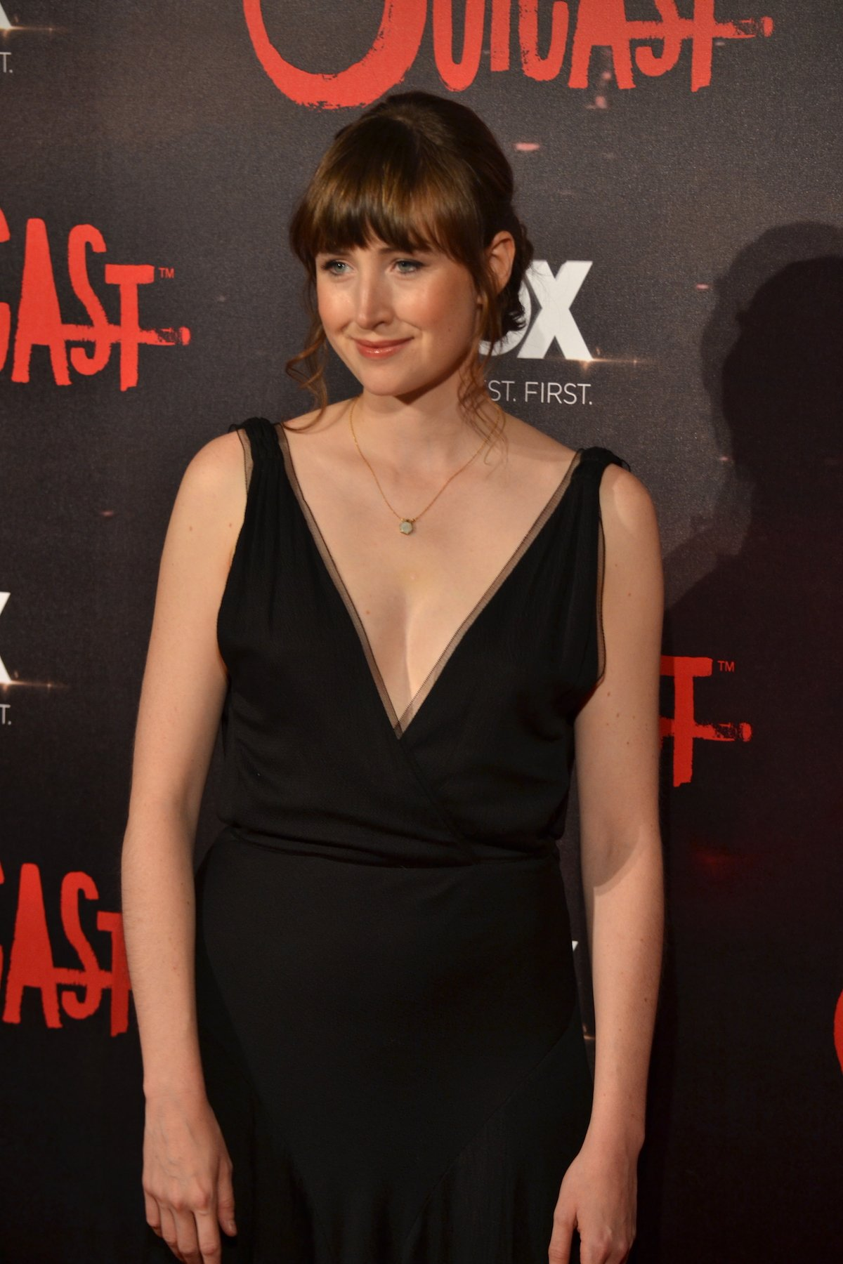 Outcast: uno scatto di Kate Lyn Sheil sul red carpet della premiere europea