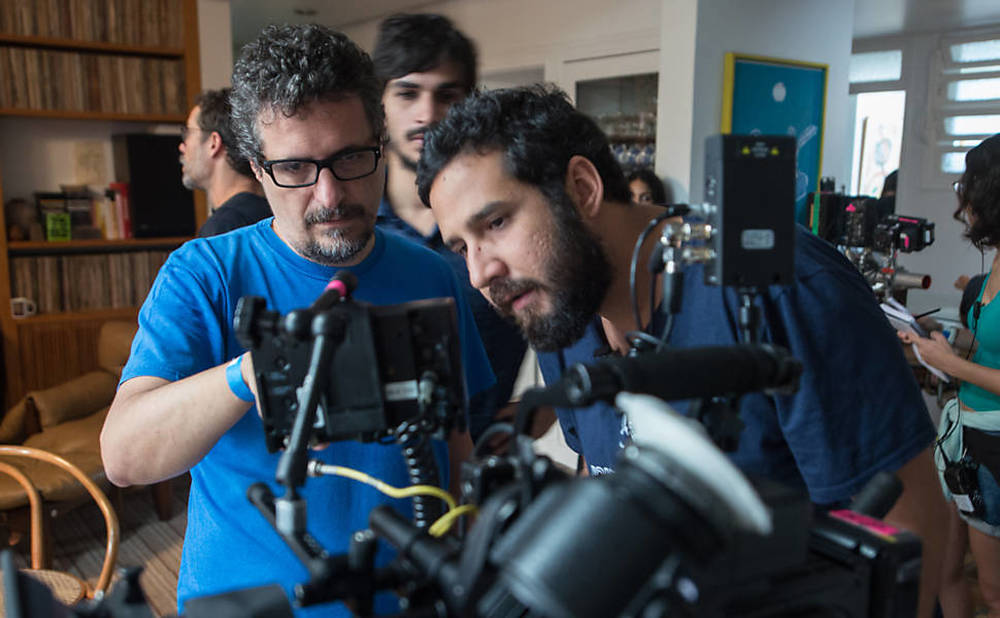 Aquarius: Kleber Mendonça Filho sul set del film da lui diretto
