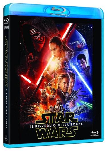 la cover del blu-ray di Star Wars: il risveglio della forza