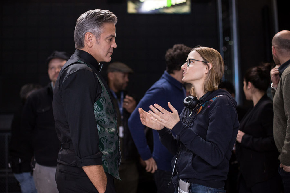 Money Monster - L'altra faccia del denaro: George Clooney con Jodie Foster sul set