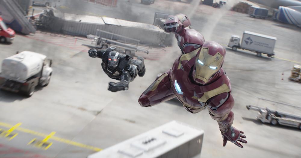 Captain America: Civil War - una scena d'azione del film