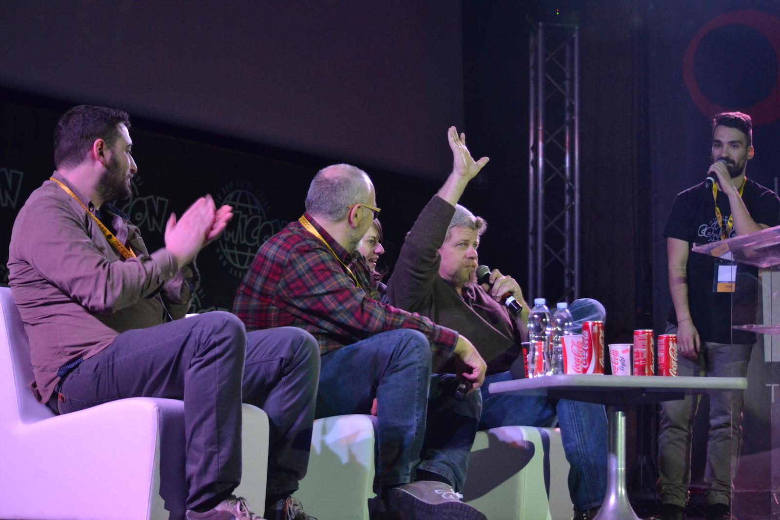 Comicon 2016: Michael Cudlitz in un momento dell'incontro