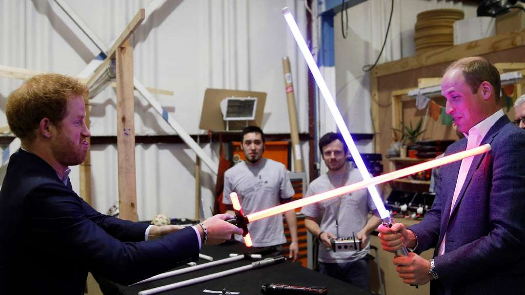 I Principi Harry e William sul set di Star Wars: ep. VIII