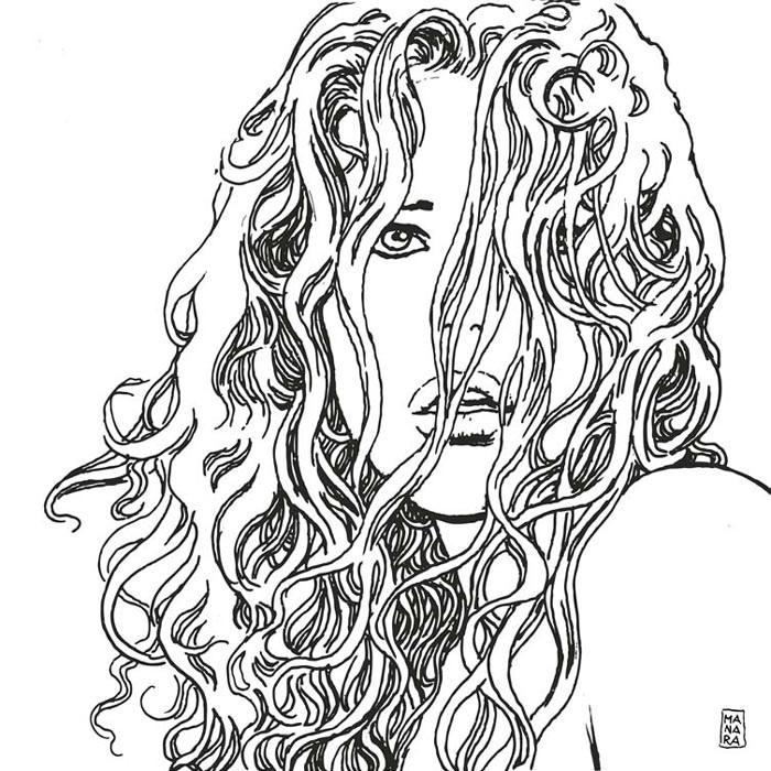 Un disegno di Milo Manara