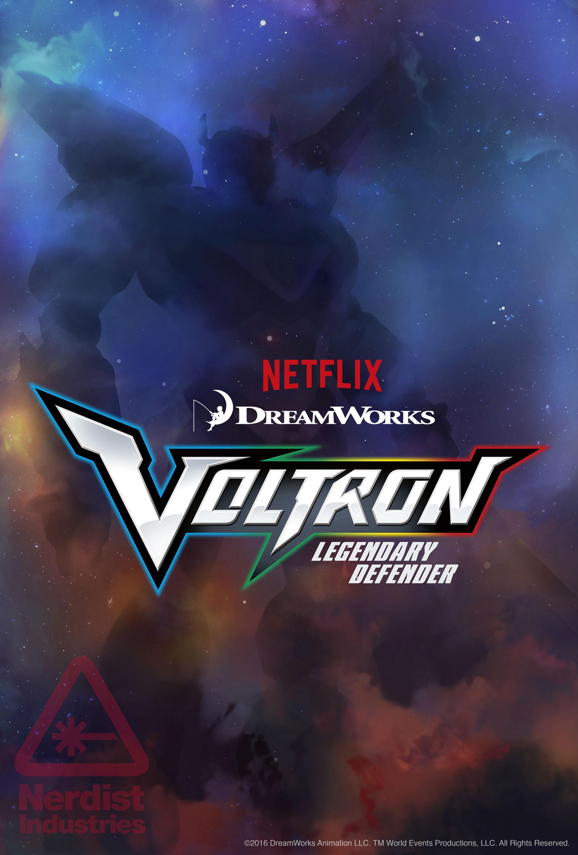 Voltron: Legendary Defender, la locandina della serie Netflix