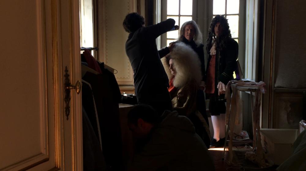 Last Days of Louis XIV: Jean-Pierre Leaud sul set del film