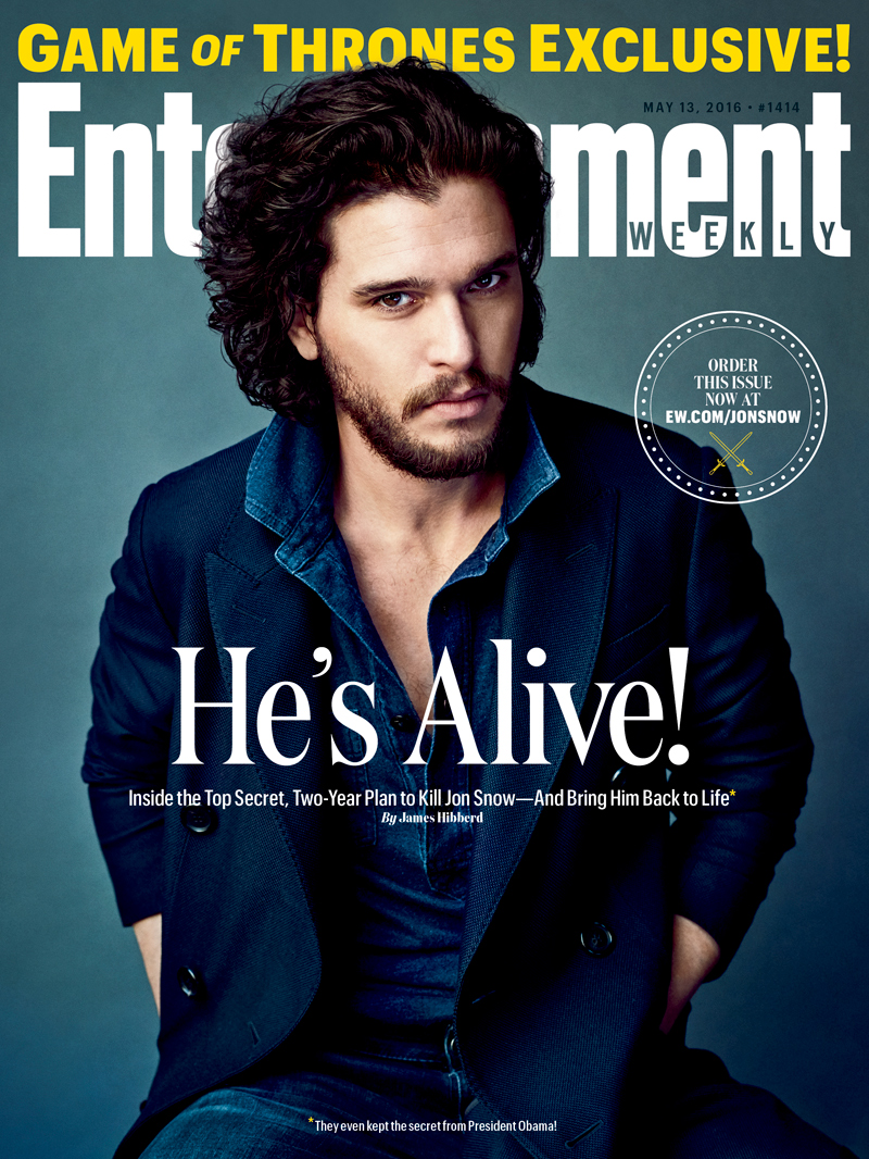 Kit Harington sulla copertina di Entertainment Weekly