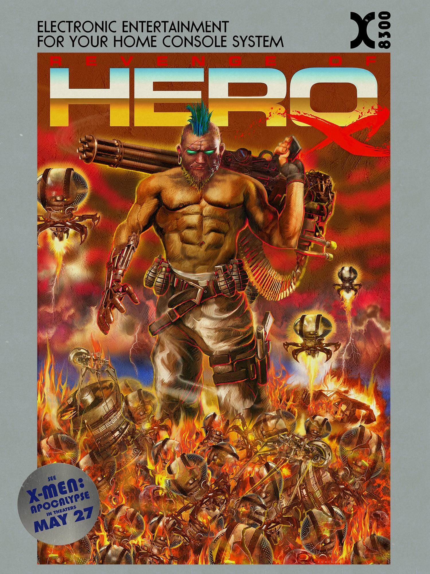 X-Men: Apocalisse: il poster del videogame Revenge of Hero X
