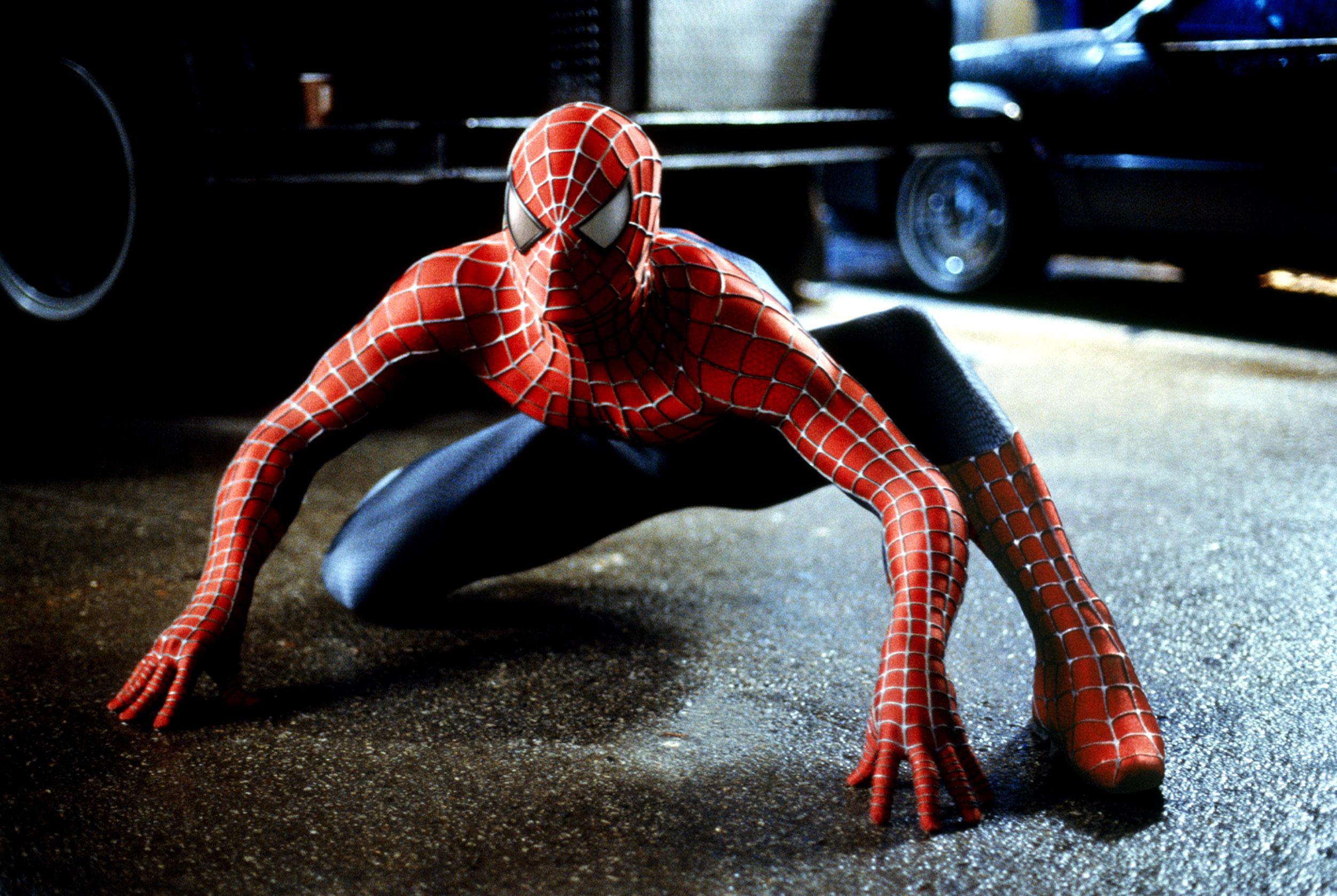 Spider-Man: un'immagine dell'eroe nel film di Sam Raimi