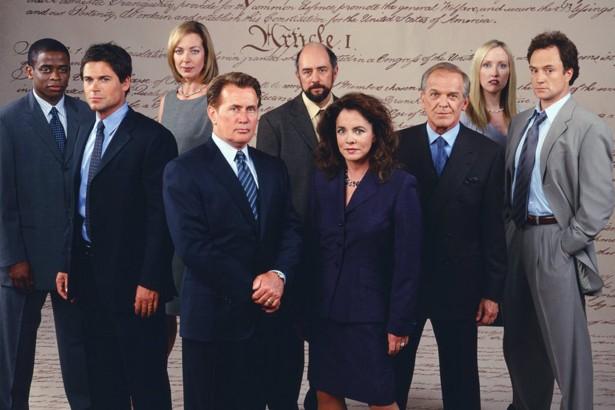 West Wing: una foto promozionale del cast