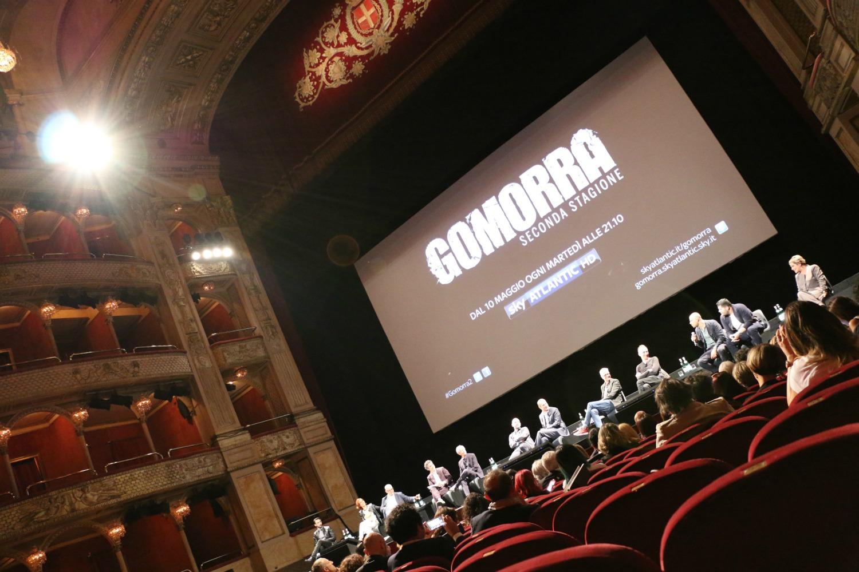Gomorra 2: uno scatto dalla conferenza stampa romana della serie Sky