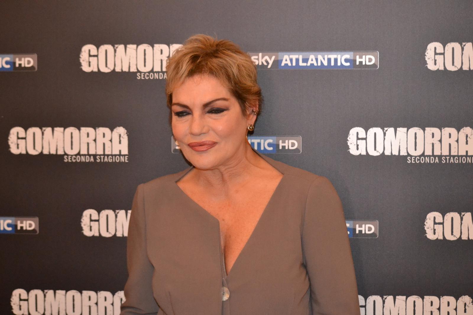 Gomorra seconda stagione: Cristina Donadio in uno scatto al photocall