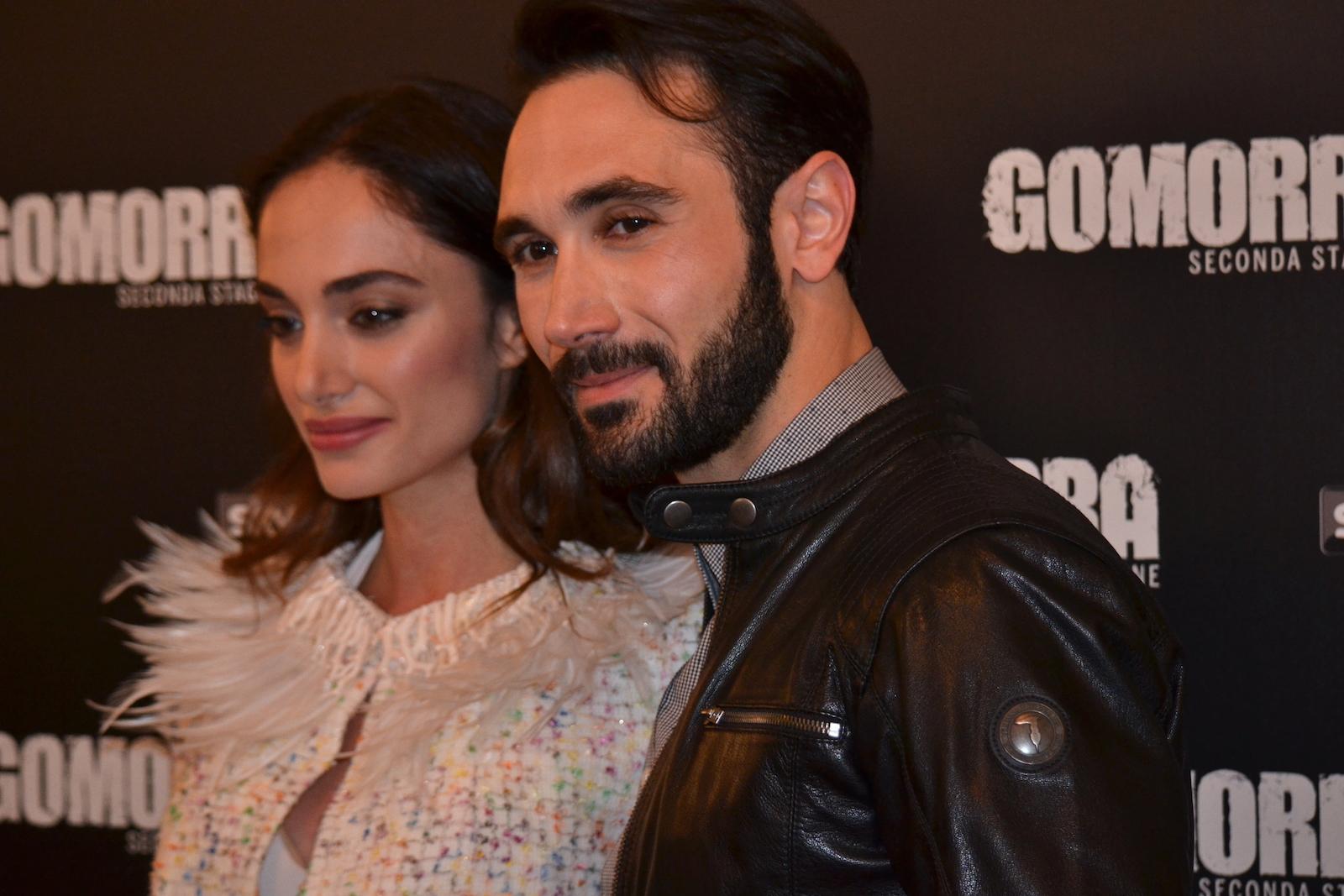 Gomorra seconda stagione: Denise Capezza e Marco Palvetti al photocall