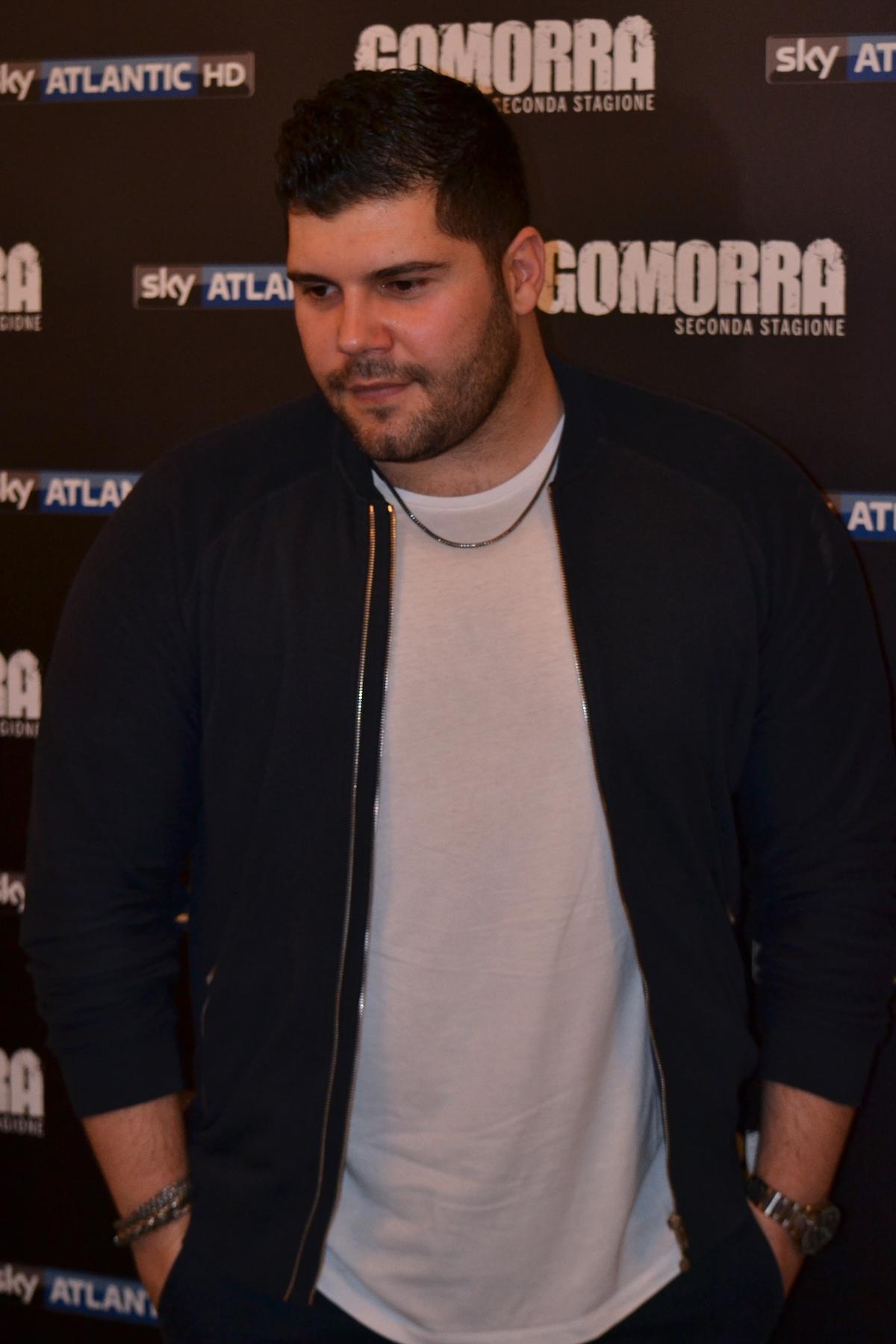 Gomorra seconda stagione: Salvatore Esposito al photocall della seconda stagione