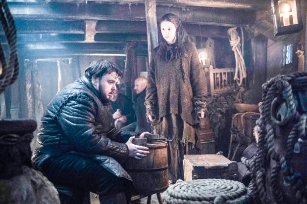 Il trono di spade: Sam e Gilly in una foto tratta da Oathbreaker