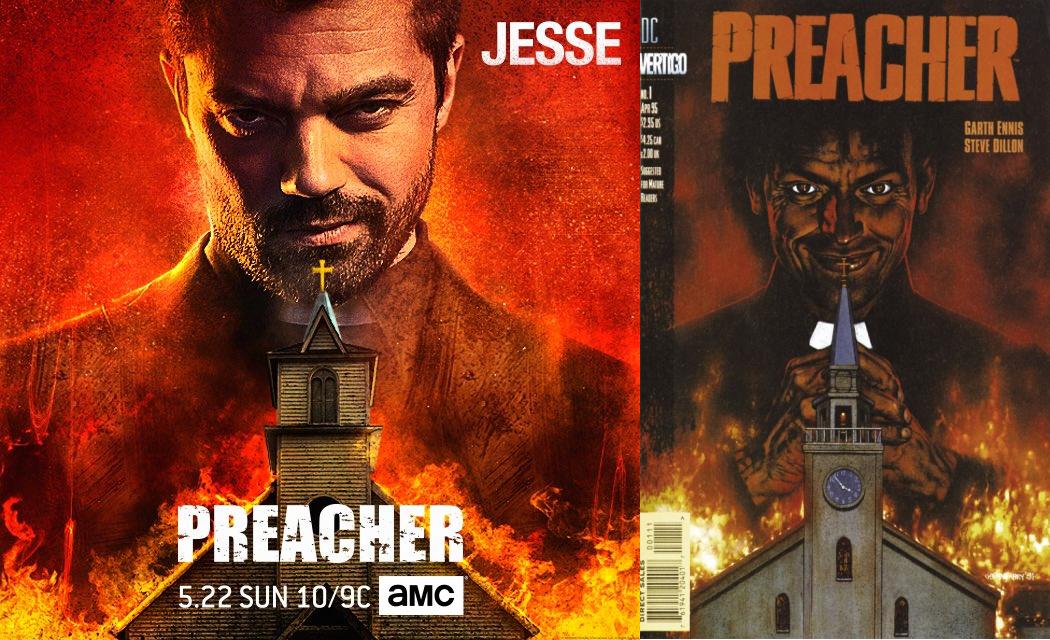 Preacher: il nuovo poster dedicato a Jesse Custer omaggia la locandina ufficiale