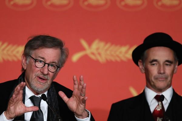 The BFG: Steven Spielberg e Mark Rylance durante la conferenza stampa