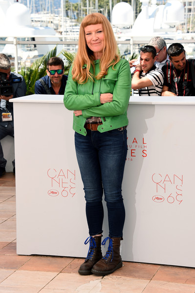 American Honey: l'autrice Andrea Arnold durante il photocall a Cannes