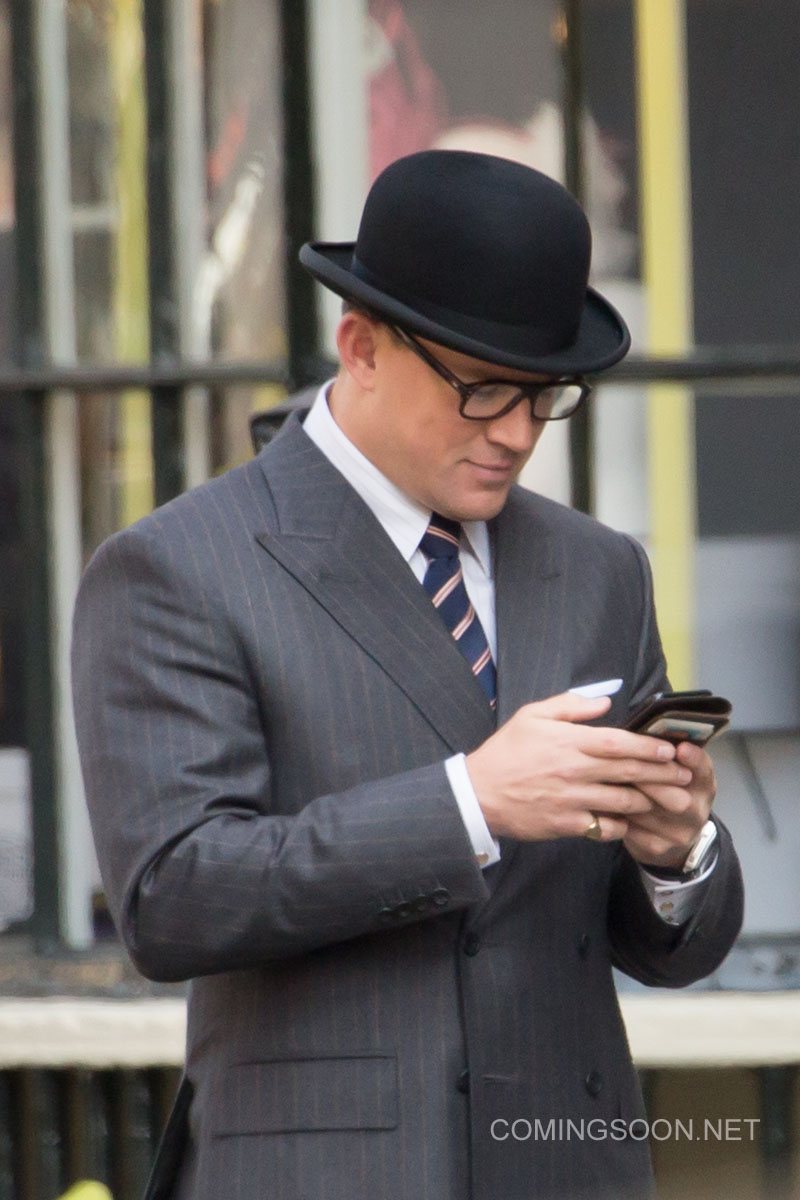 Kingsman: The Golden Circle - Channing Tatum controlla il cellulare