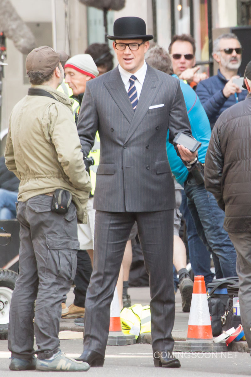 Kingsman: The Golden Circle - Channing Tatum tra un ciak e  l'altro