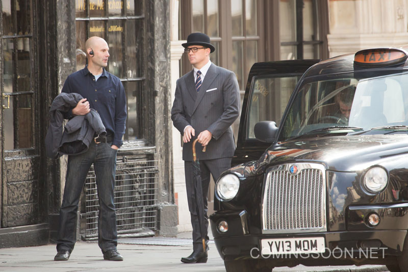 Kingsman: The Golden Circle - Channing tatum con bombetta sul set