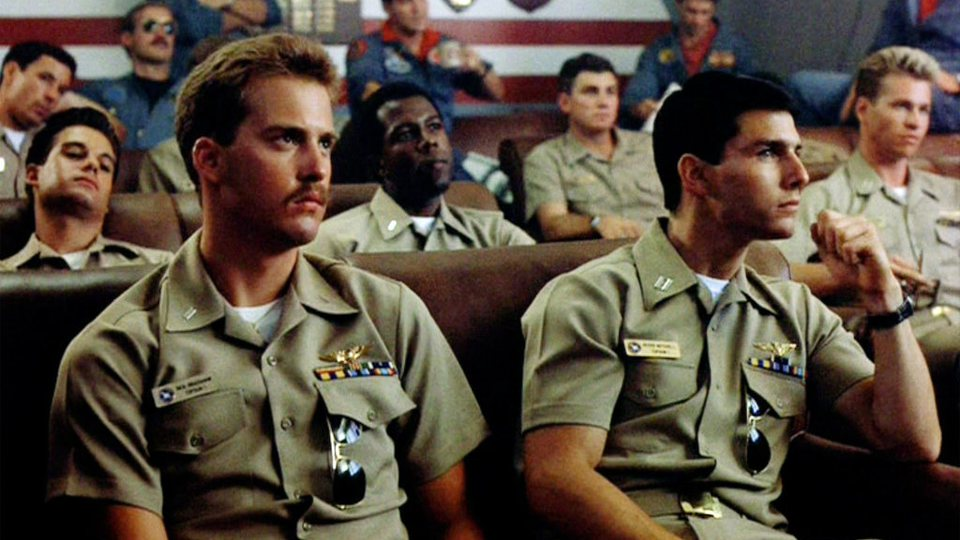 Tom Cruise e Anthony Edwards in Top Gun