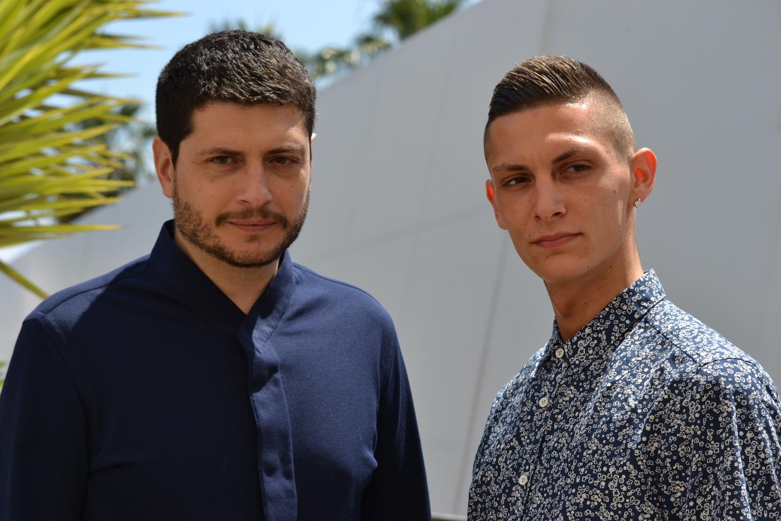 Cannes 2016: il regista Claudio giovanneri e Josciua Algeri al photocall di Fiore