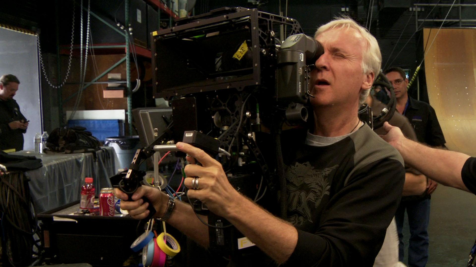 James Cameron sul set